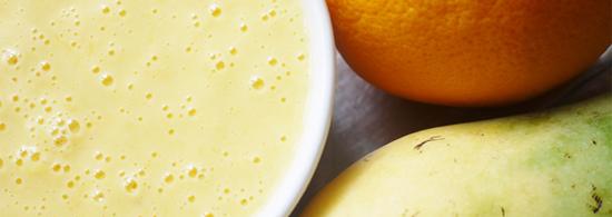 Orange Mango Yogurt Smoothie